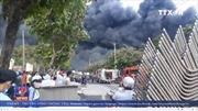 Lửa cháy ngùn ngụt trong Khu công nghiệp Nhị Xuân