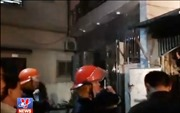 Cháy dữ dội ngôi nhà trong ngõ nhỏ thành phố Vinh