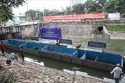 Chuyên gia Nhật Bản tắm bằng nước sông Tô Lịch đã qua xử lý