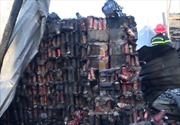 Cháy lớn thiêu rụi 12 căn nhà tại Cà Mau