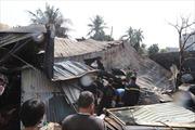 Xưởng chế biến gỗ cháy lớn khiến người dân xung quanh hoảng loạn bỏ chạy