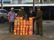 Tịch thu hơn 80 kg pháo lậu do nước ngoài sản xuất