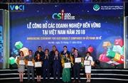 Unilever Việt Nam lọt top doanh nghiệp bền vững xuất sắc nhất năm 2018