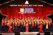 SHB được vinh danh top 100 giải thưởng Sao Vàng đất Việt, Top 10 sản phẩm chất lượng cao năm 2018