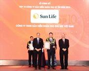 Sun Life Việt Nam - Top 10 công ty bảo hiểm nhân thọ uy tín nhất Việt Nam 2019