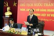 Chủ tịch nước Trần Đại Quang làm việc với Liên đoàn Luật sư Việt Nam