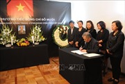 Lễ viếng và mở sổ tang nguyên Tổng Bí thư Đỗ Mười tại Mexico