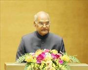 Tổng thống Ấn Độ phát biểu trước Quốc hội Việt Nam: 'Việt Nam luôn nằm trong tâm trí tôi'