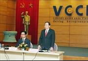 Chủ tịch Ủy ban Trung ương MTTQ Việt Nam làm việc với VCCI