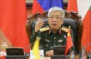 Thượng tướng Nguyễn Chí Vịnh tiếp Giám đốc USAID Việt Nam và Đại sứ Italy