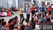 Gần 3.000 công nhân Công ty TNHH Việt Pan Pacific, Bắc Giang đi làm trở lại