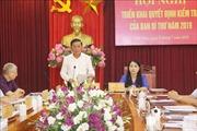 Kiểm tra việc thực hiện Nghị quyết Trung ương 4 (khóa XII) tại tỉnh Vĩnh Phúc