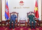 Thượng tướng Phạm Ngọc Minh tiếp Phó Tư lệnh Hiến binh Quân đội Hoàng gia Campuchia
