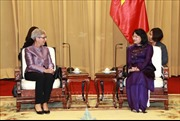 Phó Chủ tịch nước Đặng Thị Ngọc Thịnh tiếp Thống đốc bang Victoria, Australia
