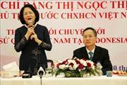 Phó Chủ tịch nước Đặng Thị Ngọc Thịnh thăm và làm việc với ĐSQ Việt Nam tại Indonesia