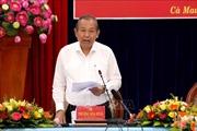 Phó Thủ tướng Thường trực Trương Hòa Bình làm việc với lãnh đạo tỉnh Cà Mau