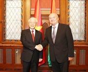 Tổng Bí thư Nguyễn Phú Trọng hội kiến Phó Chủ tịch Quốc hội Hungary