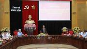 Đoàn kiểm tra của Bộ Chính trị làm việc tại Ninh Bình
