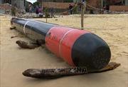 Phát hiện quả ngư lôi dài gần 7m tại vùng biển Phú Yên