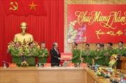 Phó Thủ tướng Thường trực Trương Hòa Bình chúc Tết một số đơn vị thuộc Bộ Công an