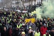 Hàng nghìn người 'Áo Vàng' lại biểu tình phản đối Chính phủ Pháp