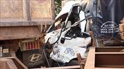 Bình Phước: Xe tải tông xe ben khiến một tài xế kẹt cứng trong cabin