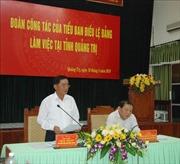 Đoàn công tác Tiểu ban Điều lệ Đảng làm việc với Ban Thường vụ Tỉnh ủy Quảng Trị