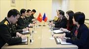 Thượng tướng Phan Văn Giang gặp Tổng tham mưu trưởng các lực lượng vũ trang LB Nga