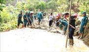 Bộ đội giúp dân xây dựng nông thôn mới ở vùng biên giới Sốp Cộp