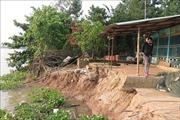 An Giang di dời khẩn cấp nhà dân do sụt lún nghiêm trọng cặp bờ sông Ông Chưởng