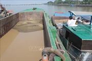 Phá ổ nhóm khai thác cát trái phép quy mô lớn trên sông Cổ Chiên và sông Hàm Luông
