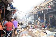 Cháy tan hoang chợ Tó ở huyện Đông Anh, Hà Nội
