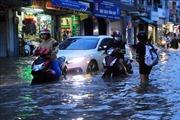 Triều cường dâng cao, nhiều tuyến đường nội ô thành phố Vĩnh Long ngập sâu