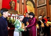 Phó Chủ tịch nước gặp mặt Đoàn đại biểu người dân tộc thiểu số tiêu biểu tỉnh Cao Bằng