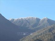 Sương muối và băng giá bao trùm vùng núi cao Bắc Bộ