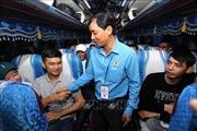 Những chuyến xe nghĩa tình đưa hàng nghìn công nhân về quê đón Tết