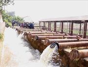 Mực nước ở Hà Nội đủ điều kiện vận hành các trạm bơm lấy nước đợt 1