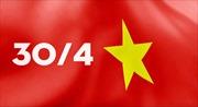 Lá cờ Tổ quốc đặc biệt trên báo in chào mừng 45 năm thống nhất đất nước