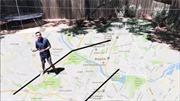Phát thanh viên Mỹ biến vườn nhà thành bản đồ thời tiết