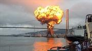 Video 'bà hỏa' nuốt chửng hai tàu chở dầu ở bến cảng Hàn Quốc