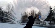 Cảnh tuyết trắng đóng băng vạn vật tại Trung Quốc