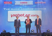 Vietjet tiếp tục được vinh danh 'Hãng hàng không tiên phong' tại The Guide Awards 2018
