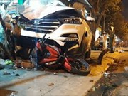 Cảnh sát giao thông gây tai nạn khiến 2 người tử vong