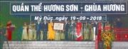 Bí thư Thành ủy Hà Nội dự Lễ đón bằng Di tích quốc gia đặc biệt quần thể Hương Sơn