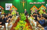 Phó Thủ tướng Trương Hòa Bình chúc mừng Noel 2018 tại tòa Giám mục Phát Diệm