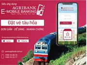 Đặt vé tàu hỏa trực tuyến  trên Ứng dụng Agribank E-Mobile Banking