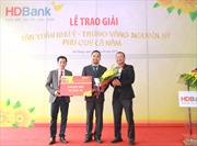 Khách hàng HDBank trúng thưởng một ký vàng