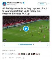 Theo dõi Emirates FA Cup trên Twitter