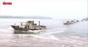 Diễn tập đổ bộ kỷ niệm 323 năm Ngày thành lập Hải quân Nga