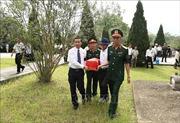 Truy điệu, an táng 18 hài cốt liệt sỹ quân tình nguyện và chuyên gia Việt Nam hy sinh tại Lào